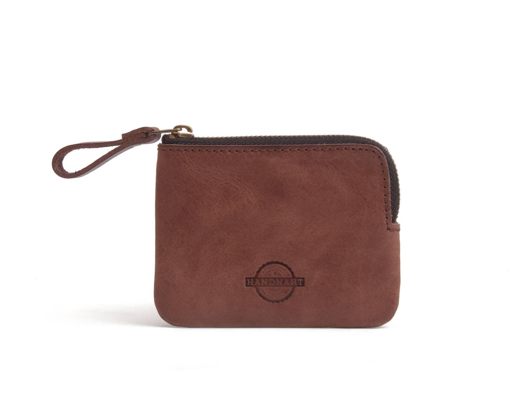 Leder Portemonnaie Brieftasche Leder Schweiz Handnaht Braun KURTS.ch