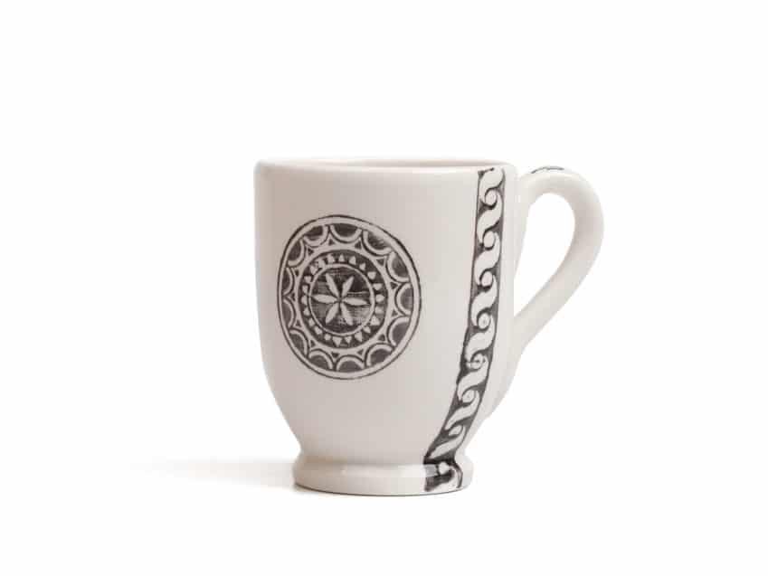 sgraffito Kaffeetasse Sgraffito Engadin Schweiz Keramik KURTS.ch