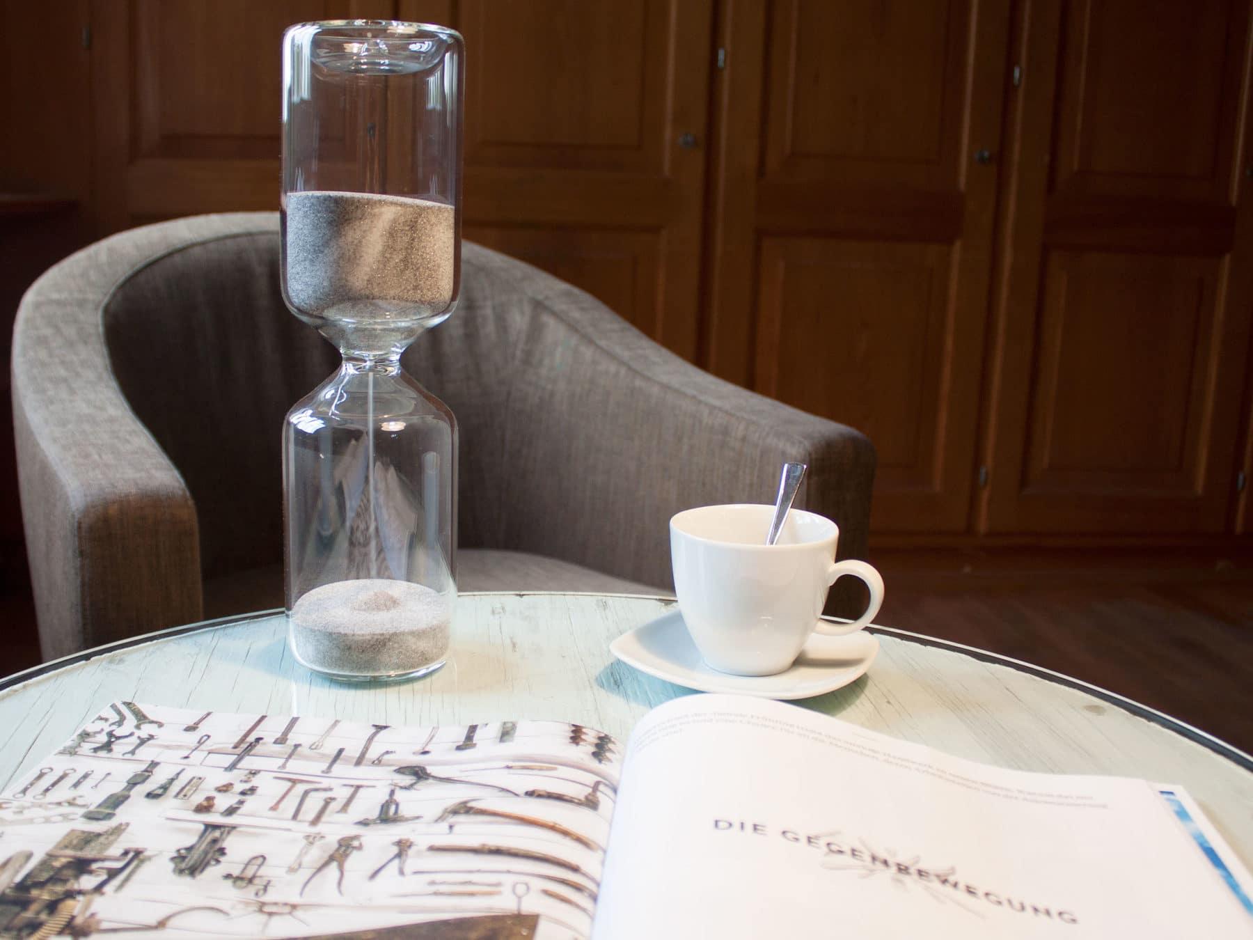 Sanduhr kaufen Anthrazit Schweiz Glasblaeser handgemacht Staedler swiss KURTS.ch