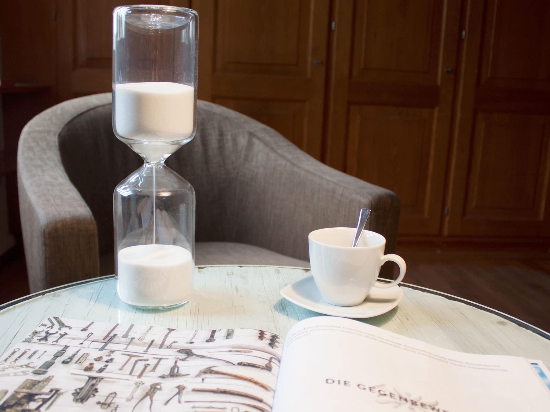 Sanduhr kaufen Weiss Schweiz Glasblaeser handgemacht Staedler swiss KURTS.ch