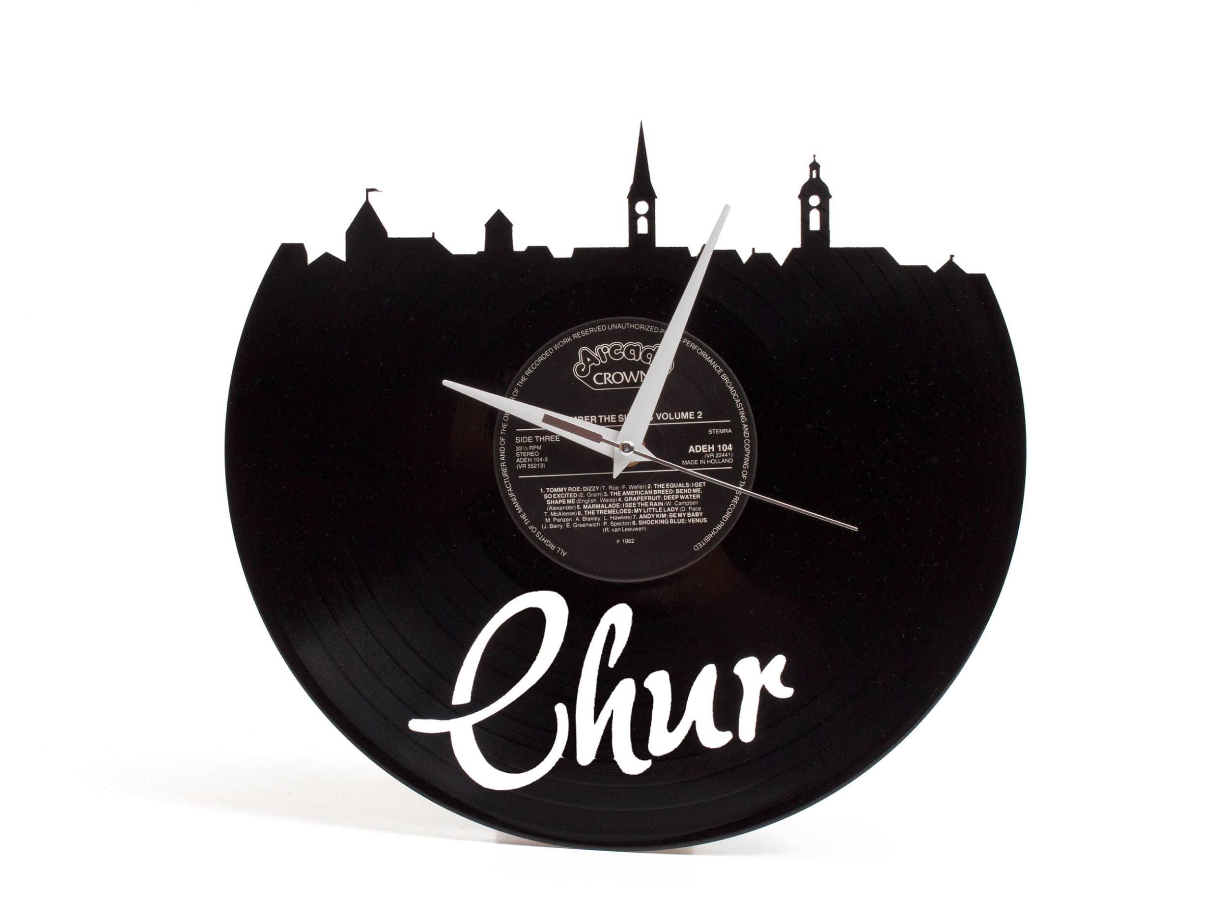 Schallplattenuhr Chur Aus Ch Manufaktur Kaufen Kurts Ch