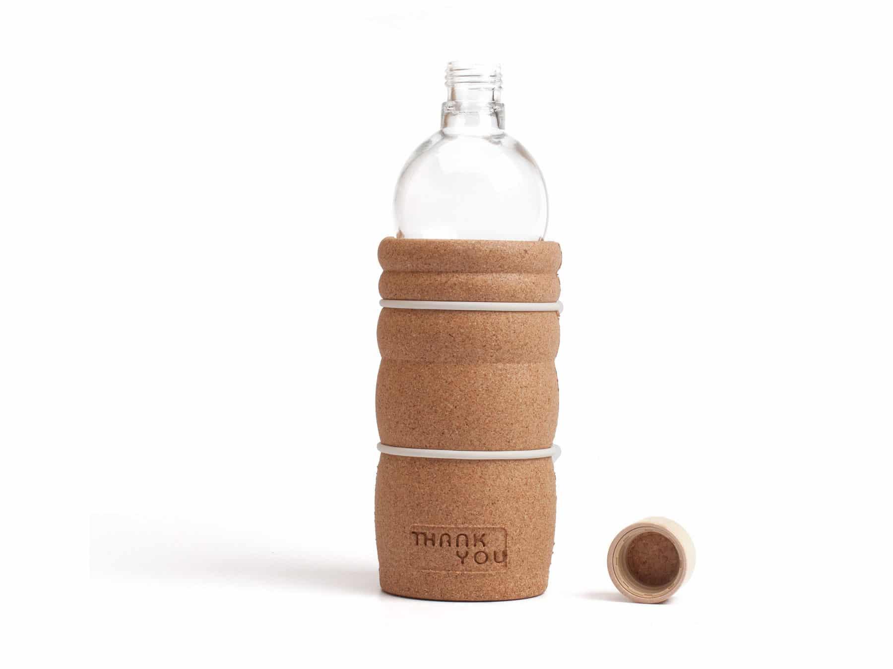 Trinkflasche Glas 7 dl Kork thankyou natures design KURTS.ch