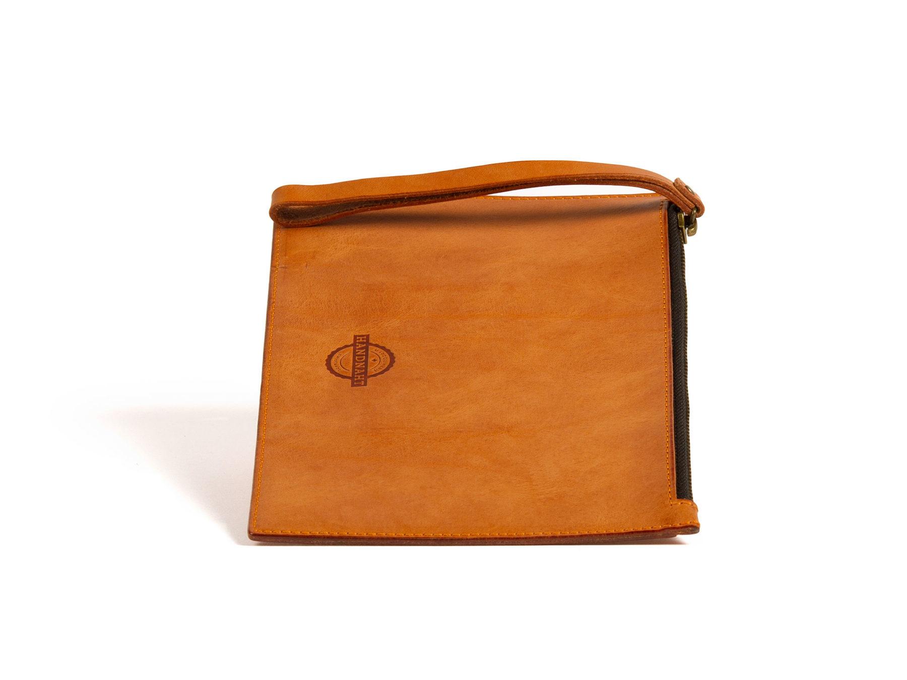 Clutch Damentasche Leder Handnaht handmade swiss KURTS.ch