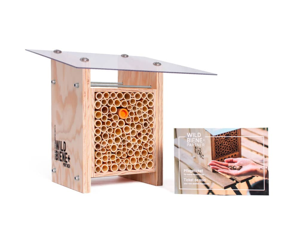 Beehome Classic Wildbiene&Partner Wildbienen Geschenkset mit Pflegeticket KURTS.ch