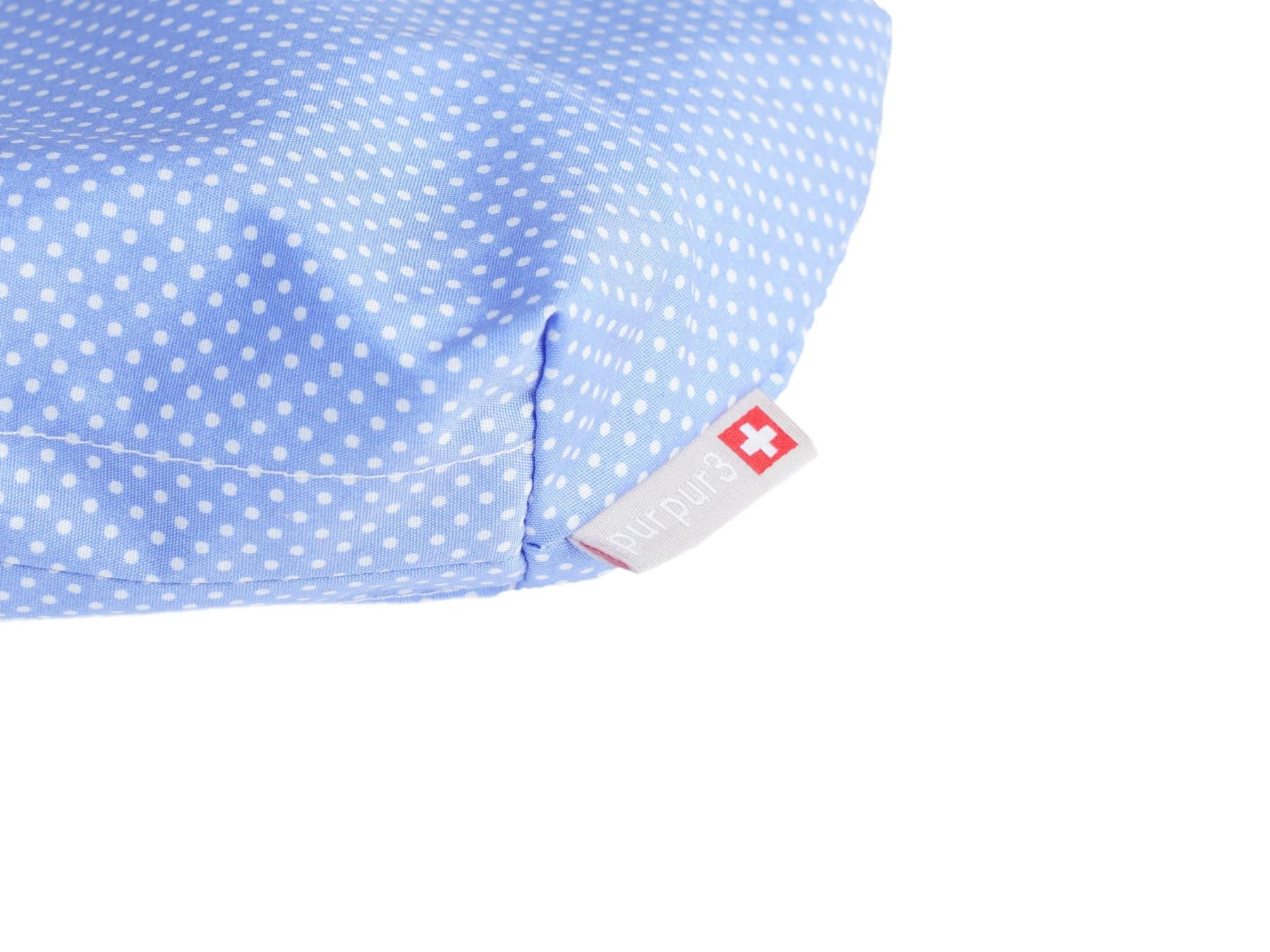 Necessaire Schweiz swissmade blau weiss getupft KURTS.ch