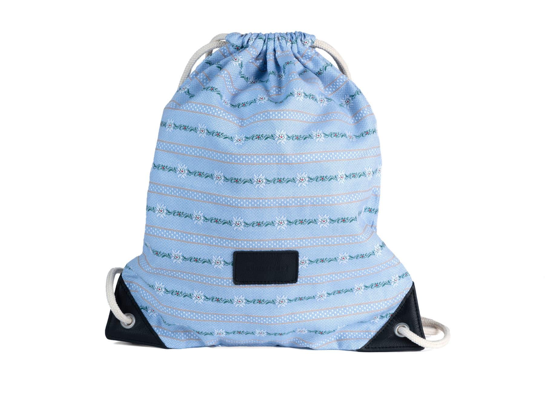 Schweizer Edelweiss Bag Backpack Rucksäckli swiss made Edelweissstoff