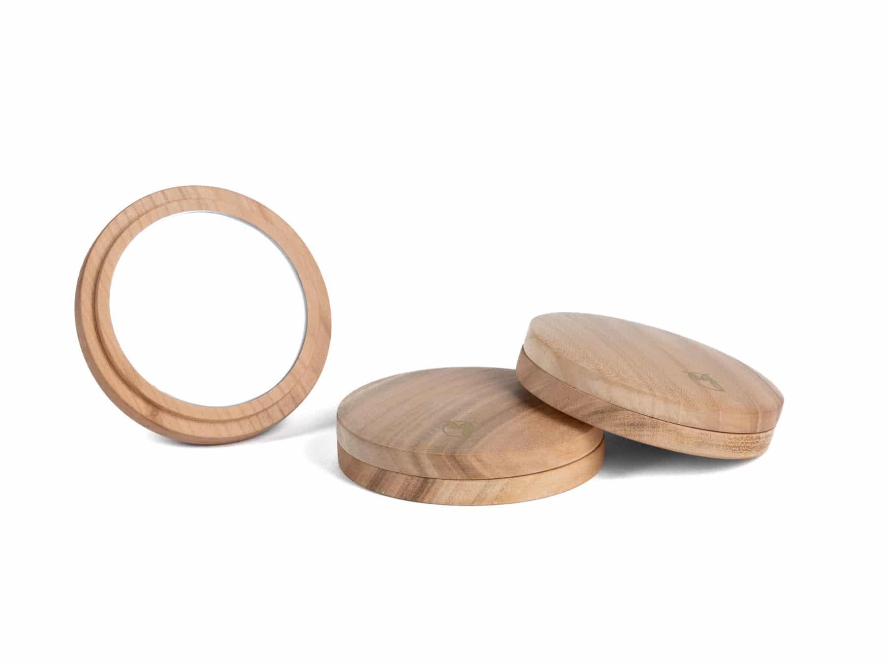 Taschenspiegel Holz magnetisch swiss handmade Stilgraf KURTS.ch