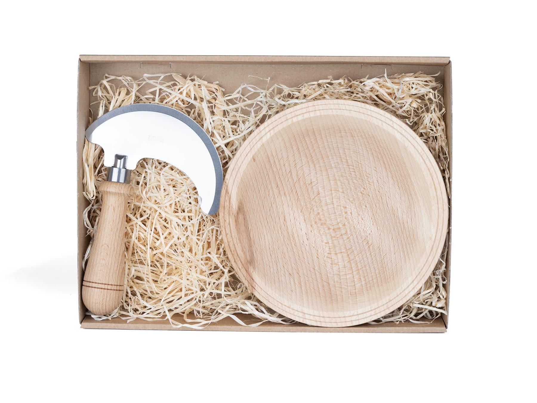 Schweizer Kraeutermesser Set mit Holzschale handgemacht swissmade KURTS.ch