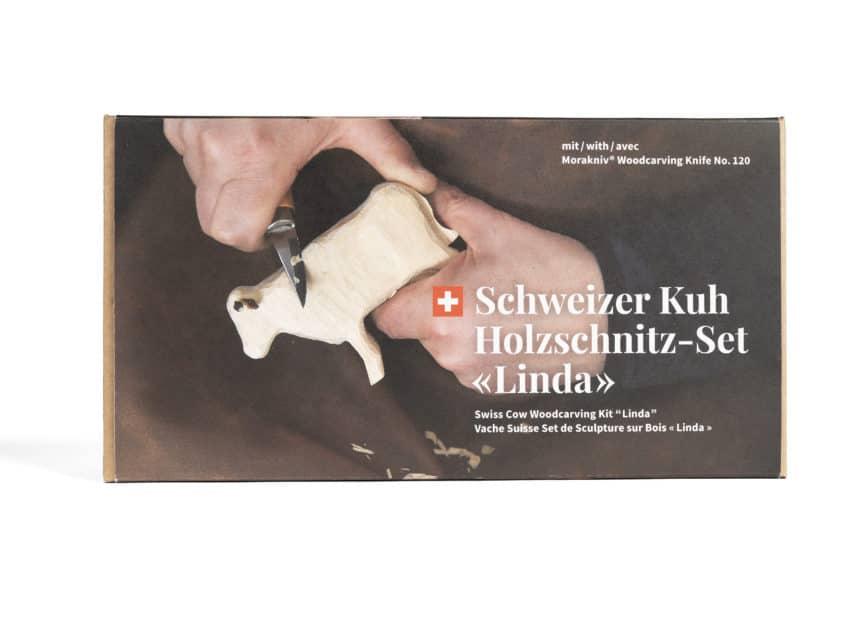 Schweizer Kuh schnitzen Holzschnitz-Set Linda KURTS.ch - Schweizer Geschenke 2