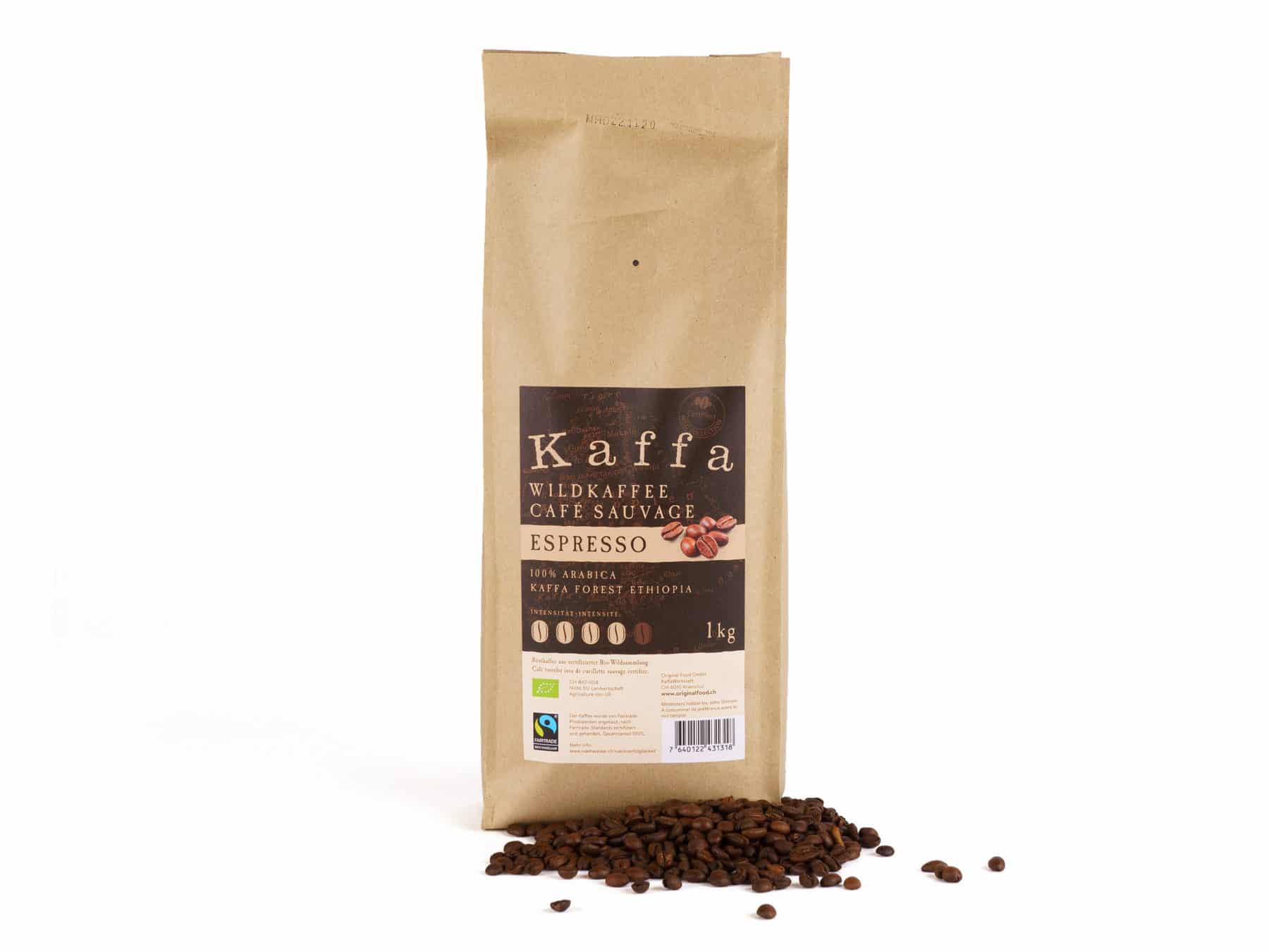 Kaffa Wildkaffee Espresso Original Food Bio KURTS