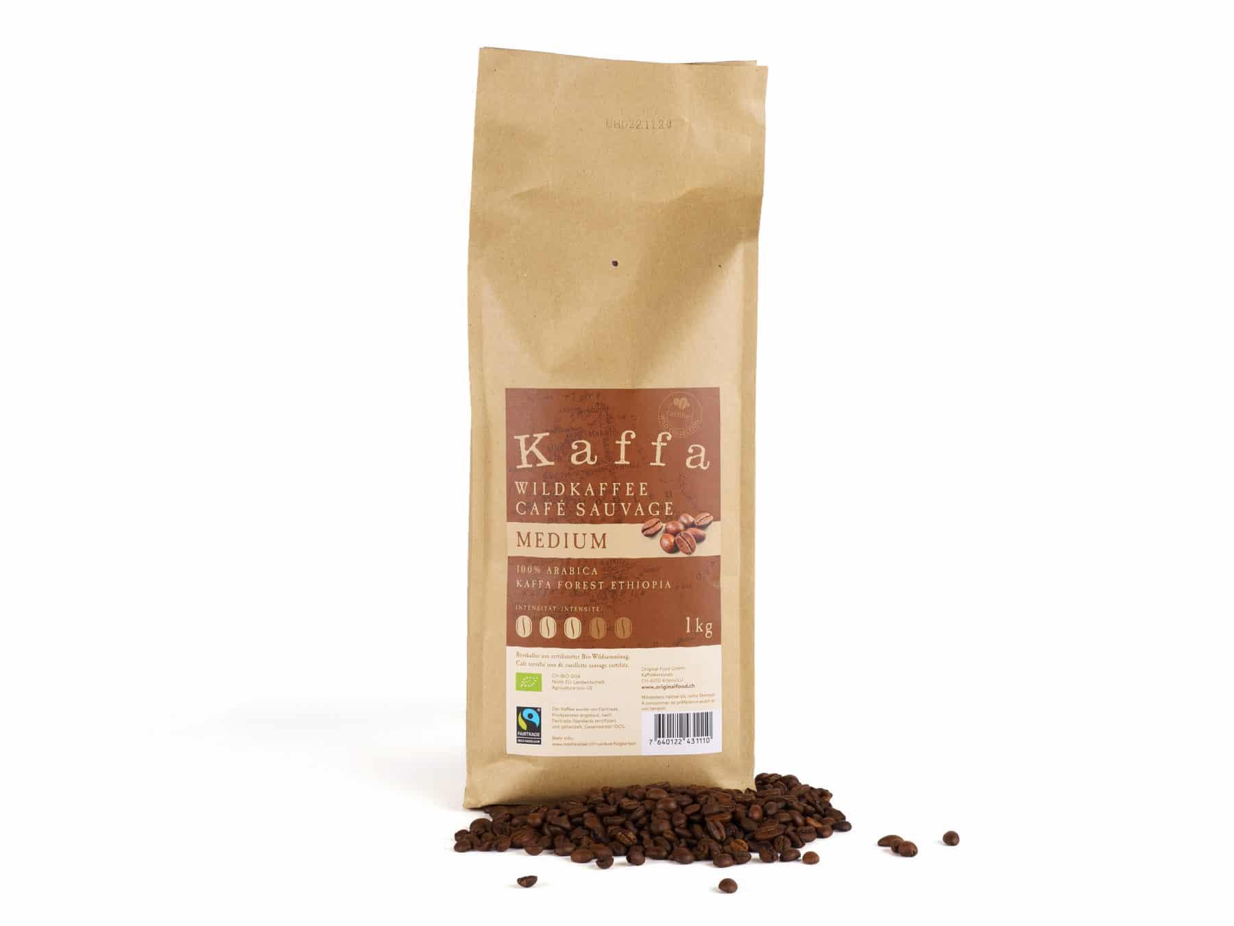 Kaffa Wildkaffee Medium Original Food Bio KURTS