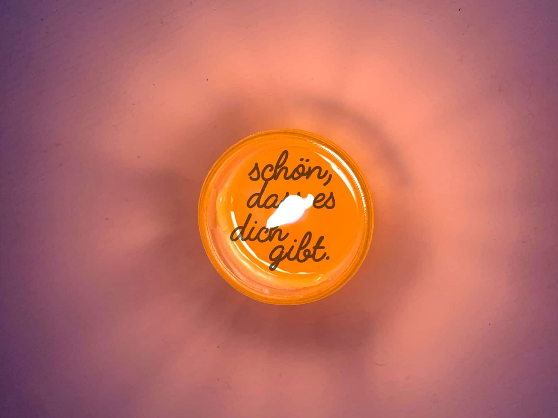 Teelicht Botschaft Message Candle Kurts Kerzenpost swiss mood