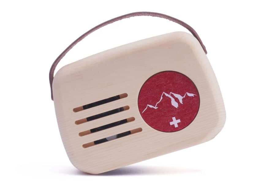 Klangbox Senn swiss made Holzradio Alpklang