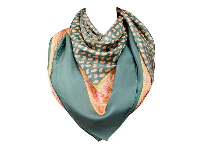 Seidenfoulard Foulard Seide Carré swiss made mint-turquoise 120x120cm